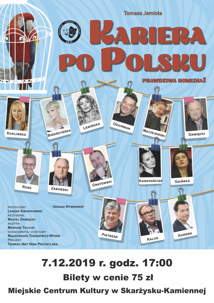 spektakl komediowy kariera po polsku