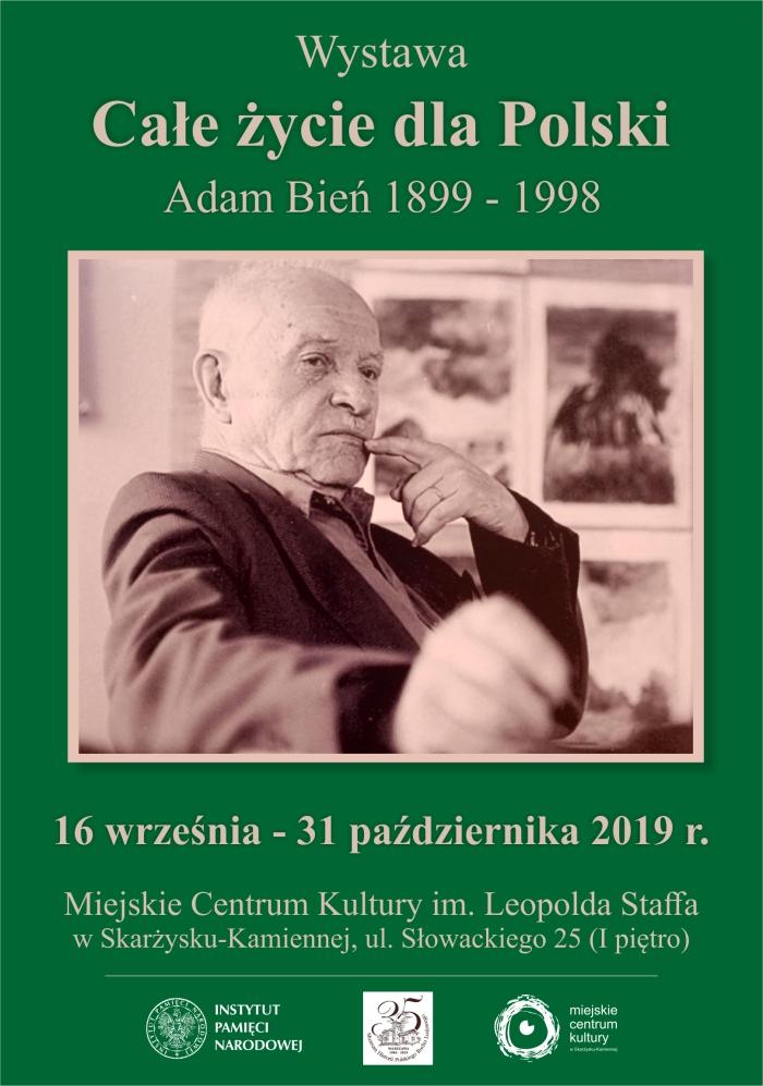 wystawa Cale zycie dla Polski Adam Bien